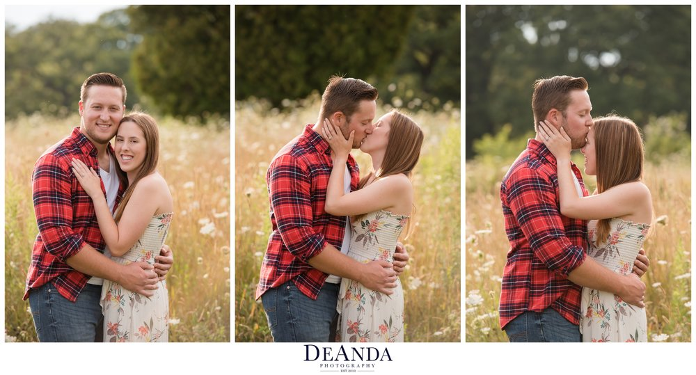 st.james farm engagement photo