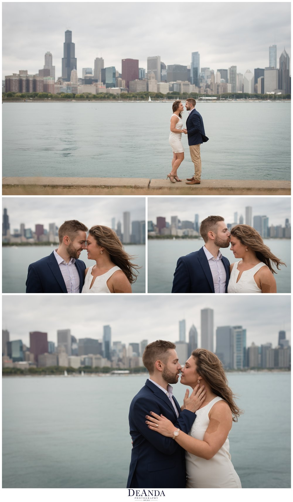 chicago engaged couple photography on museum campus