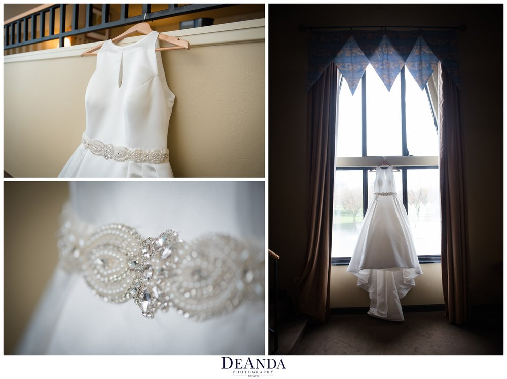 Wedding dress at the Pheasant Run Resort in St.Charles Illinois