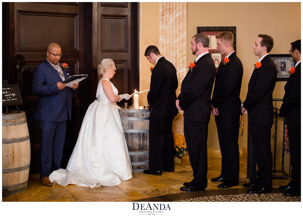 wedding indoors at acquaviva winery in maple park