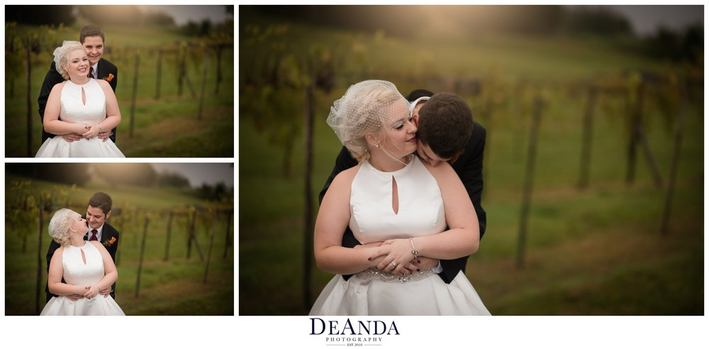 bride and groom at vineyard acquaviva winery in maple park