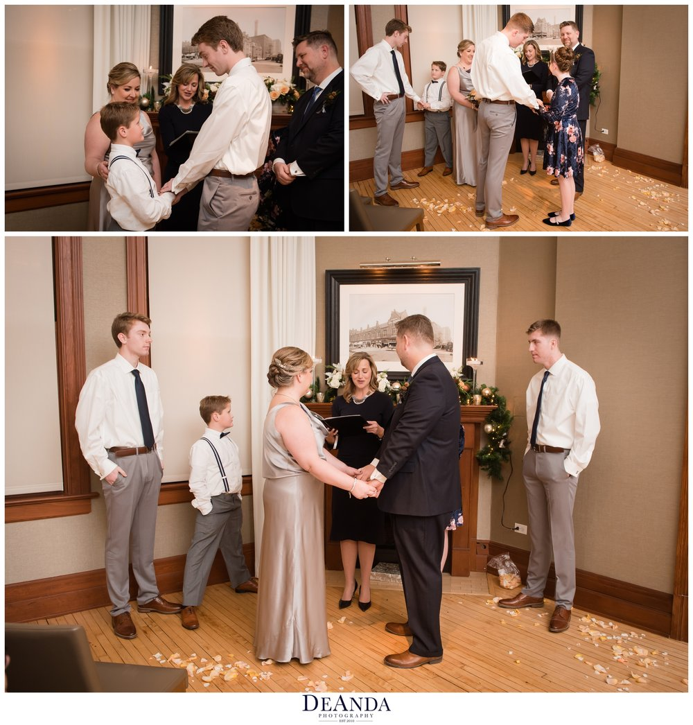 wedding ceremony at Tree Studios Chicago