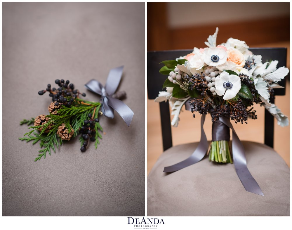 winer wedding florals in chicago