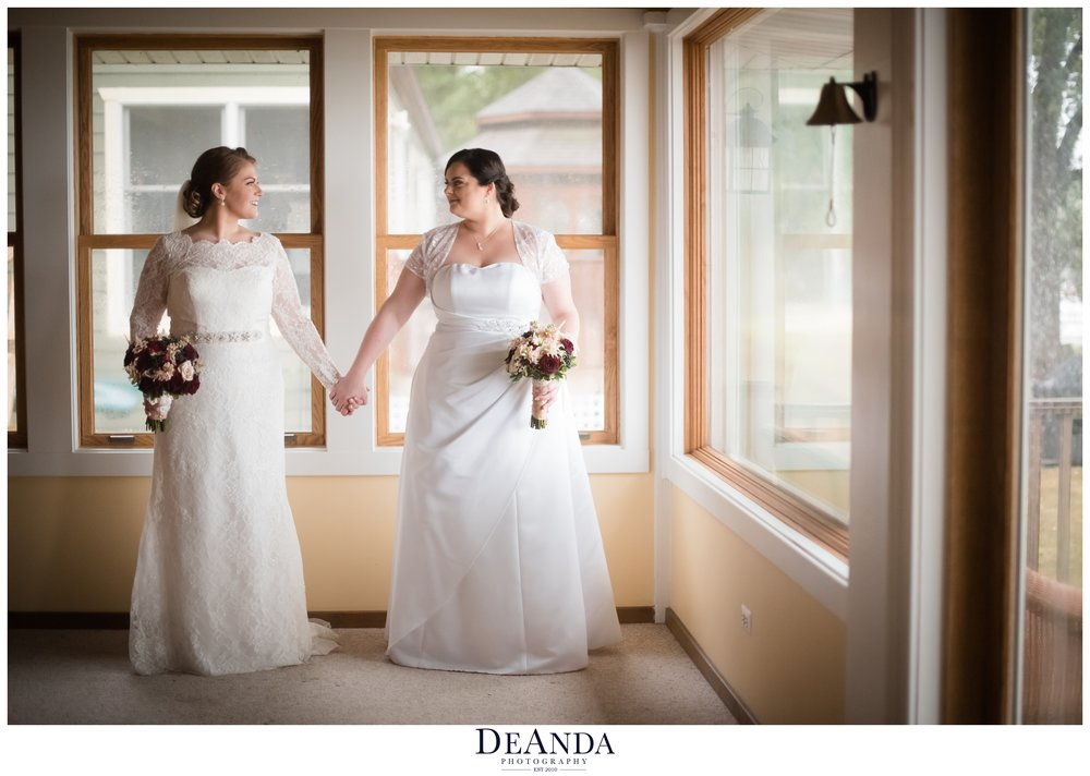 brides on their wedding day in chicago