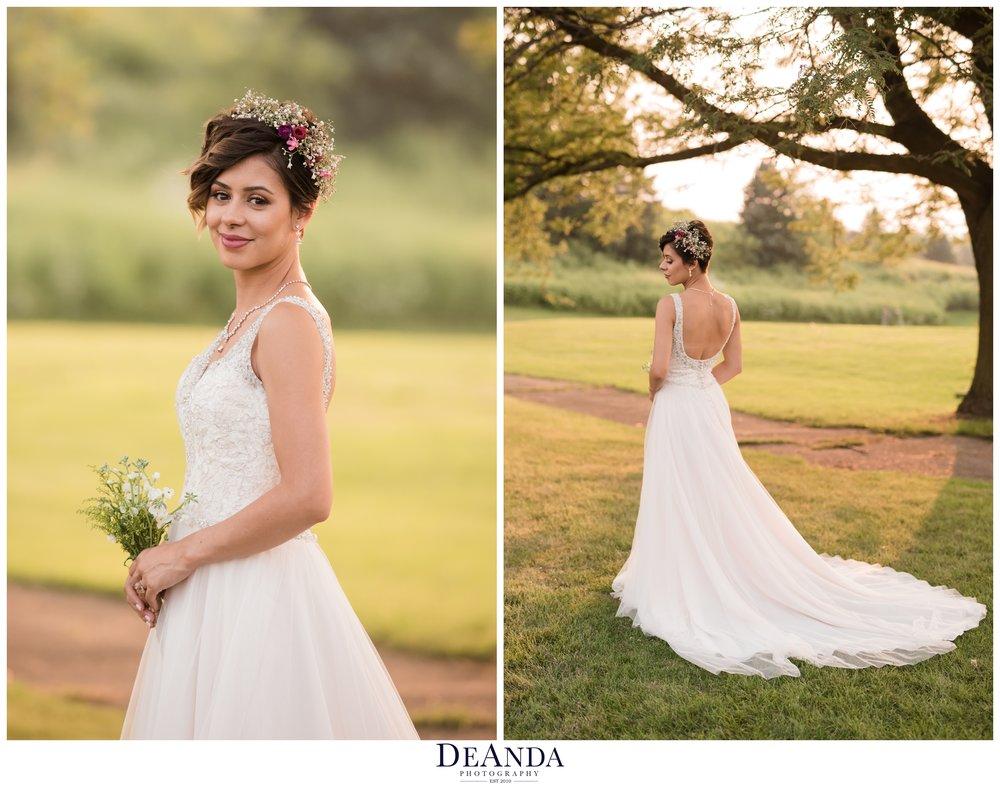 Bride portraits at villa olivia in bartlett
