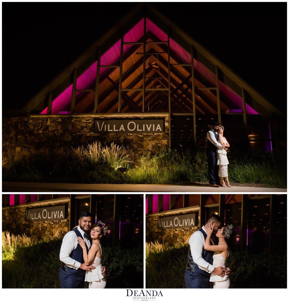 night photos at villa olivia in bartlett