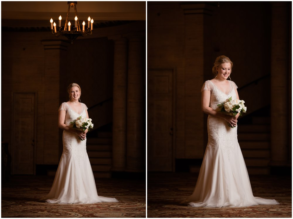 palmer house hilton chicago bridal portraits