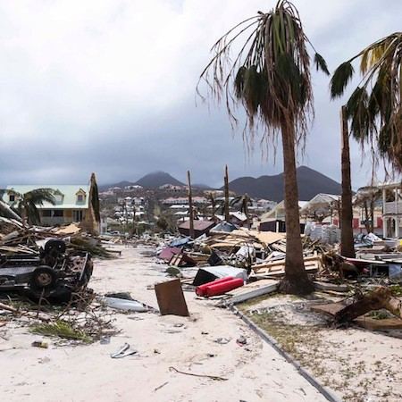 Hurricane Irma damage in St. Martin