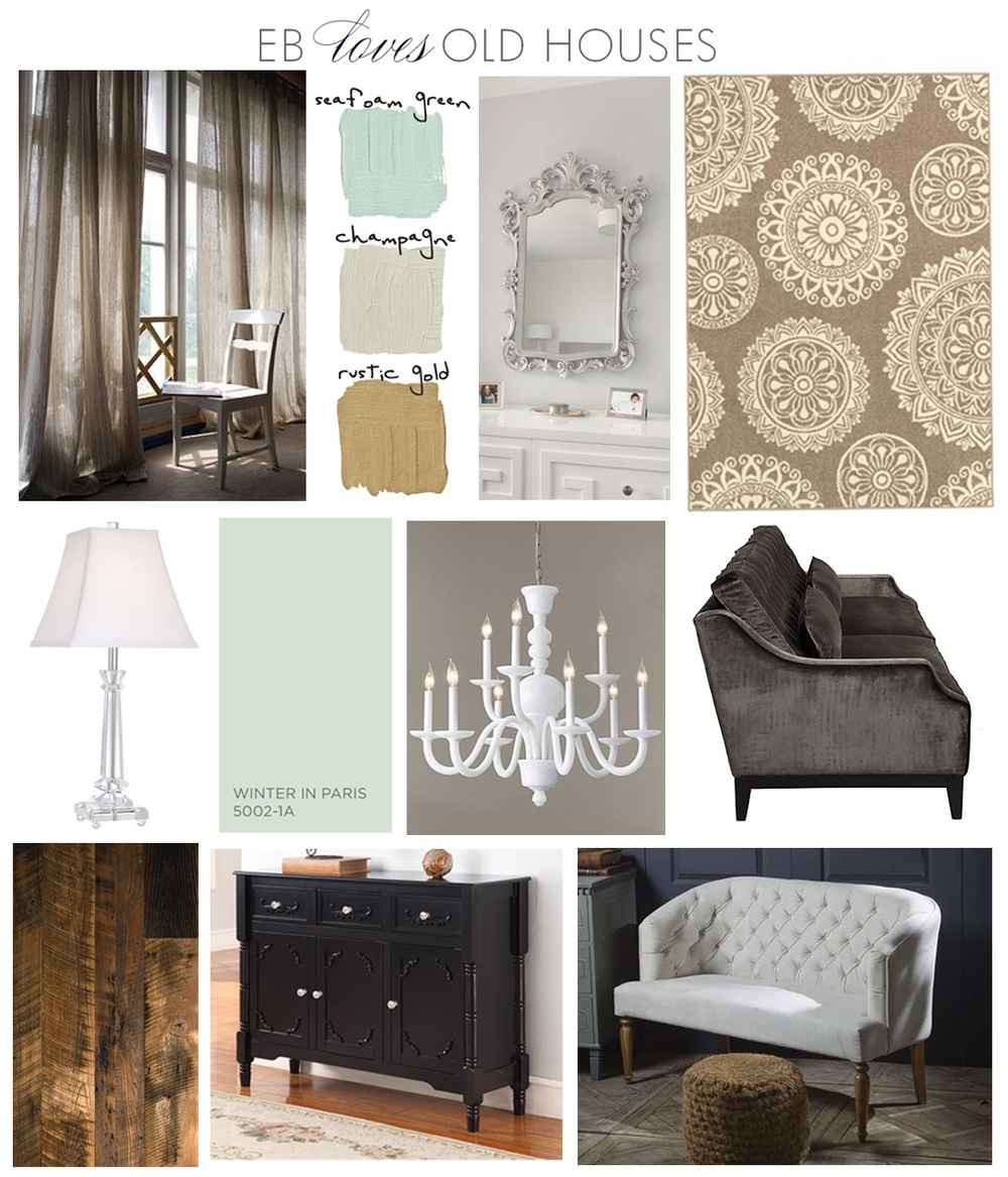 EB Loves Old Houses | Living Room Design Board