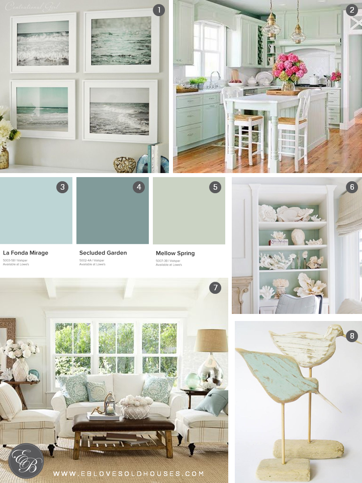 Bon Elizabeth Burns Design | Beach House Inspiration   Seafoam Green, Aqua, And  White