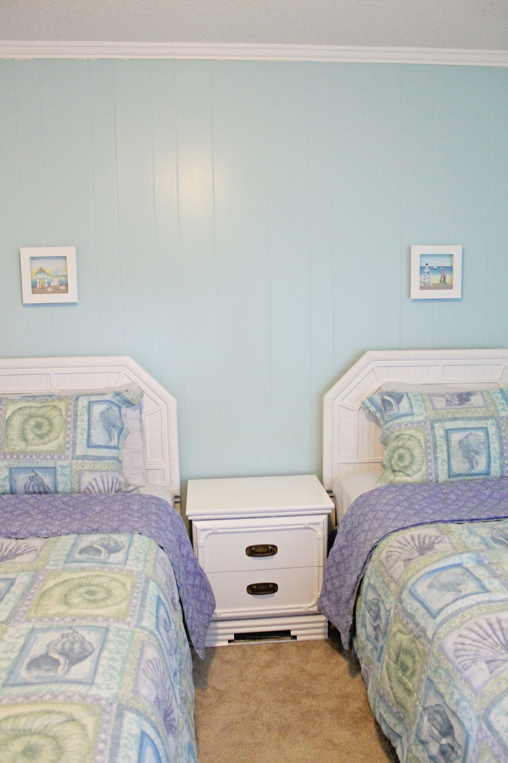 Elizabeth Burns Design | Sea Spray Condo Before and After - Sherwin Williams Watery
