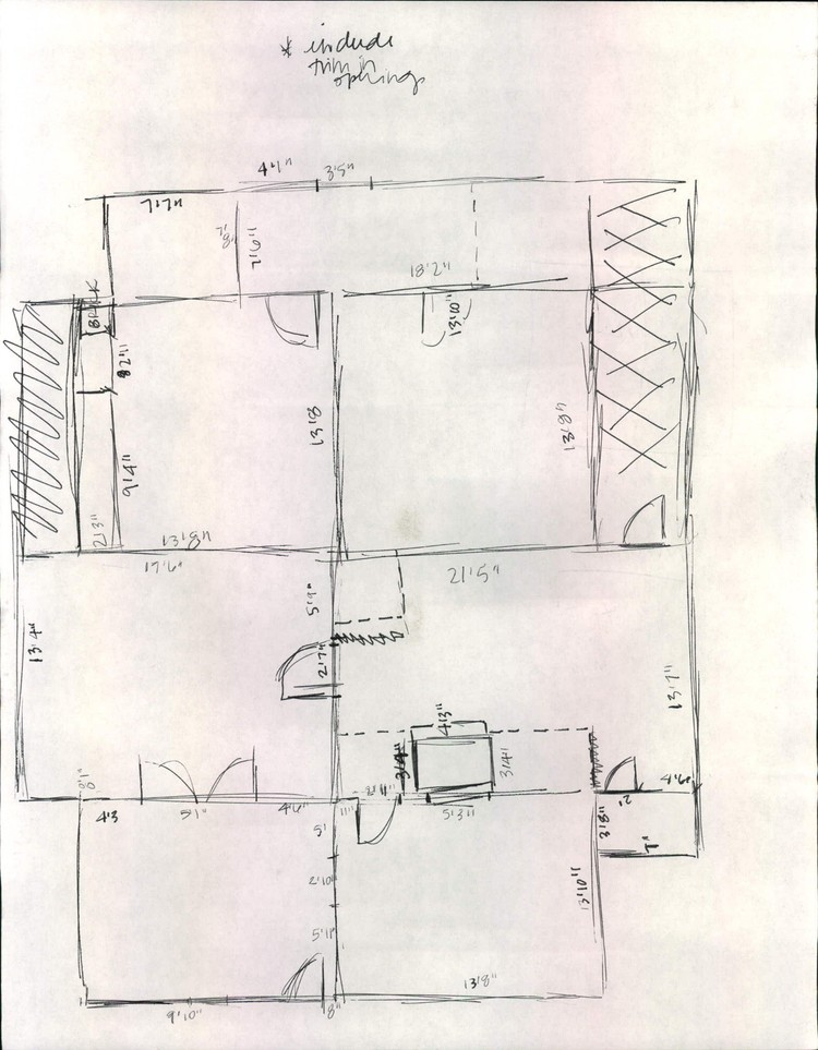 Elizabeth Burns Design | Old Floor Plan