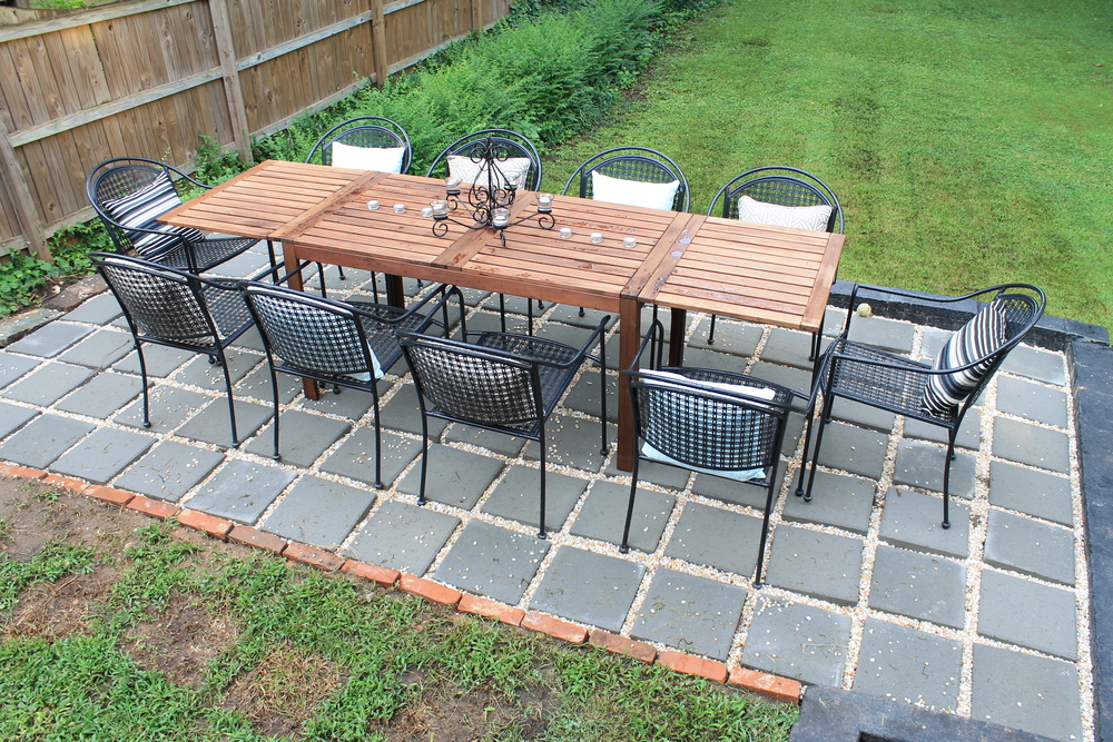 Elizabeth Burns Design | DIY Paver Patio