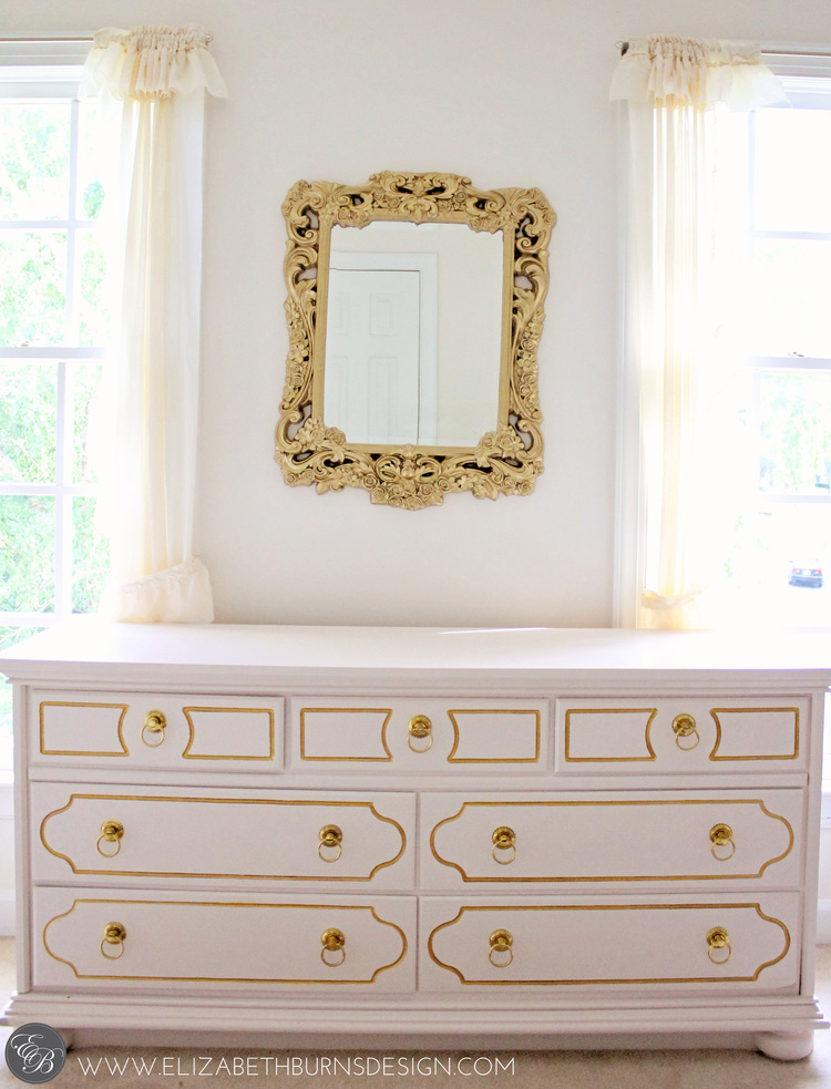 Elizabeth Burns Design | Pink and Gold Dresser After