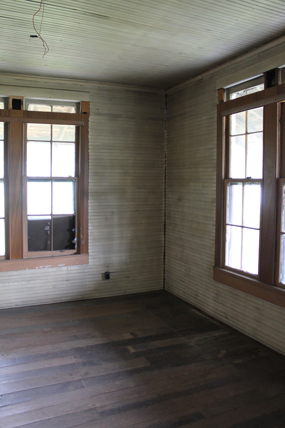 Elizabeth Burns Design | Old House Renovation - Wide Plank Pine Floors