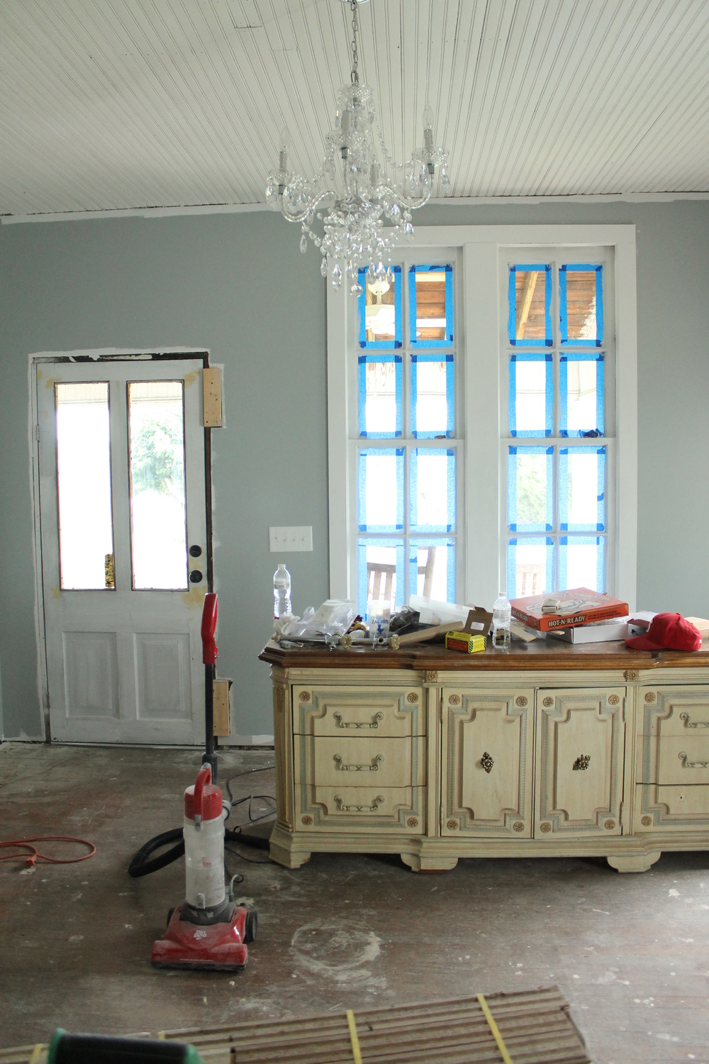 Elizabeth Burns Design | Adding Shaker Style Trim to Restored Windows