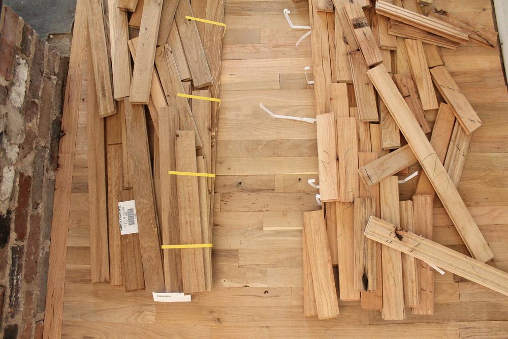 Elizabeth Burns Design | Utility Grade Hardwood Flooring DIY Old House Renovstion