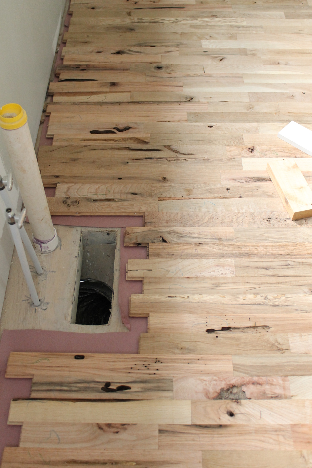 Elizabeth Burns Design | Utility Grade Hardwood Flooring DIY Old House  Renovation