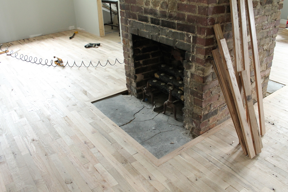 Elizabeth Burns Design | Utility Grade Hardwood Flooring DIY Old House Renovation