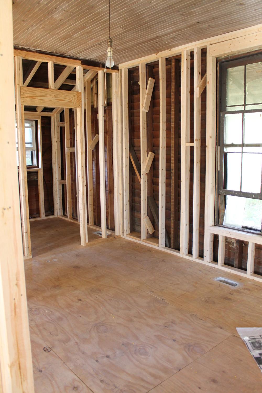 Elizabeth Burns Design | Installing Utility Grade Oak Flooring, DIY