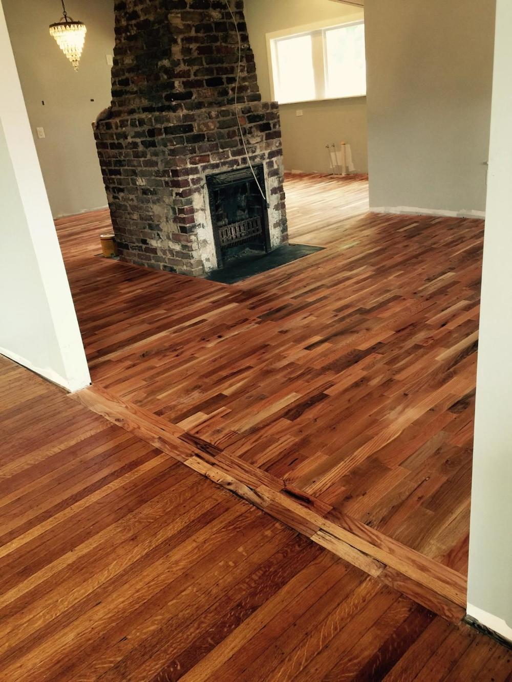 Finishing Utility Grade Oak Flooring Utility Grade