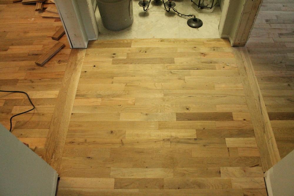 Our Utility Grade Oak Floors Myrtle House Elizabeth Burns Design