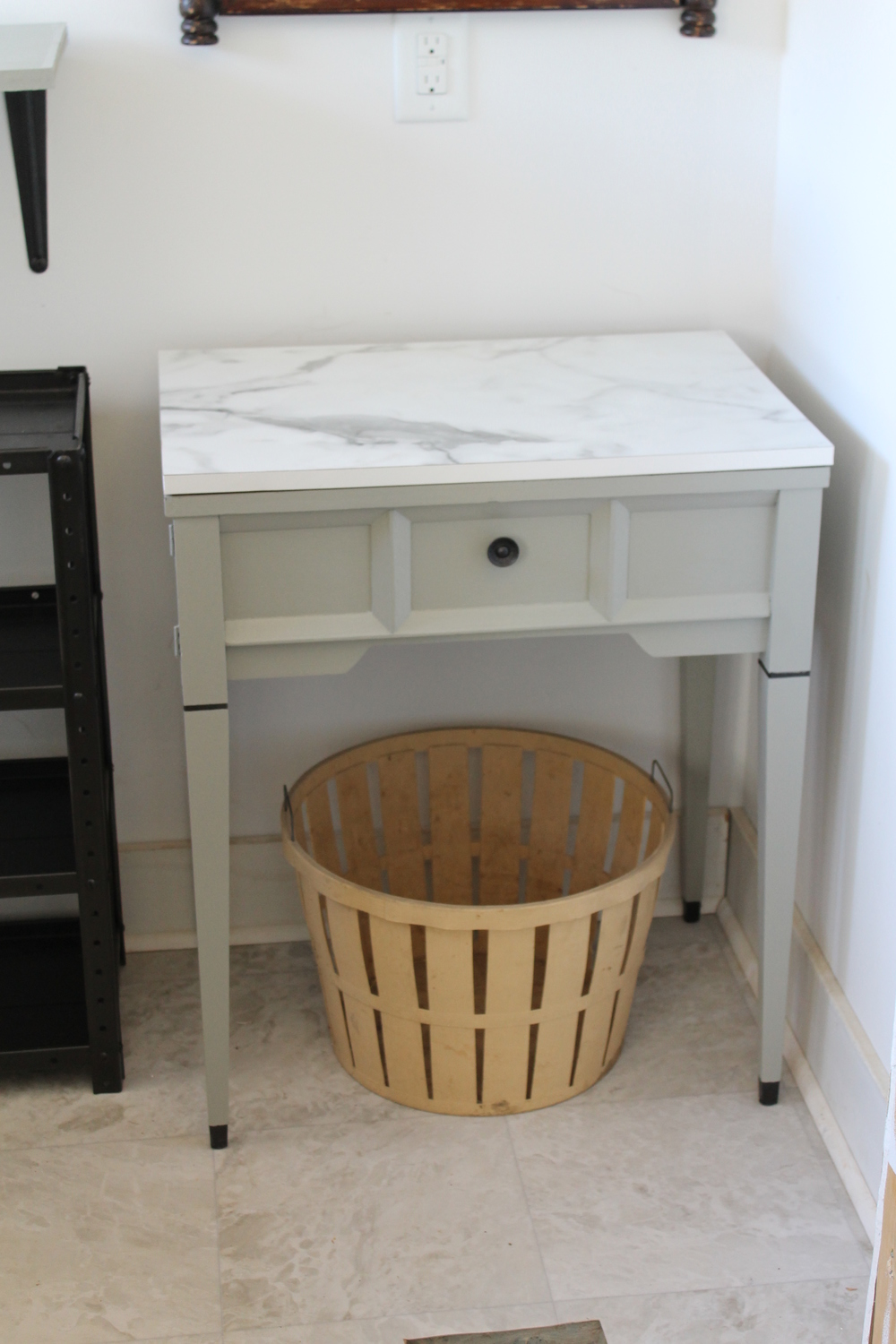 Elizabeth Burns Design | Repurposed sewing table, DIY painted furniture