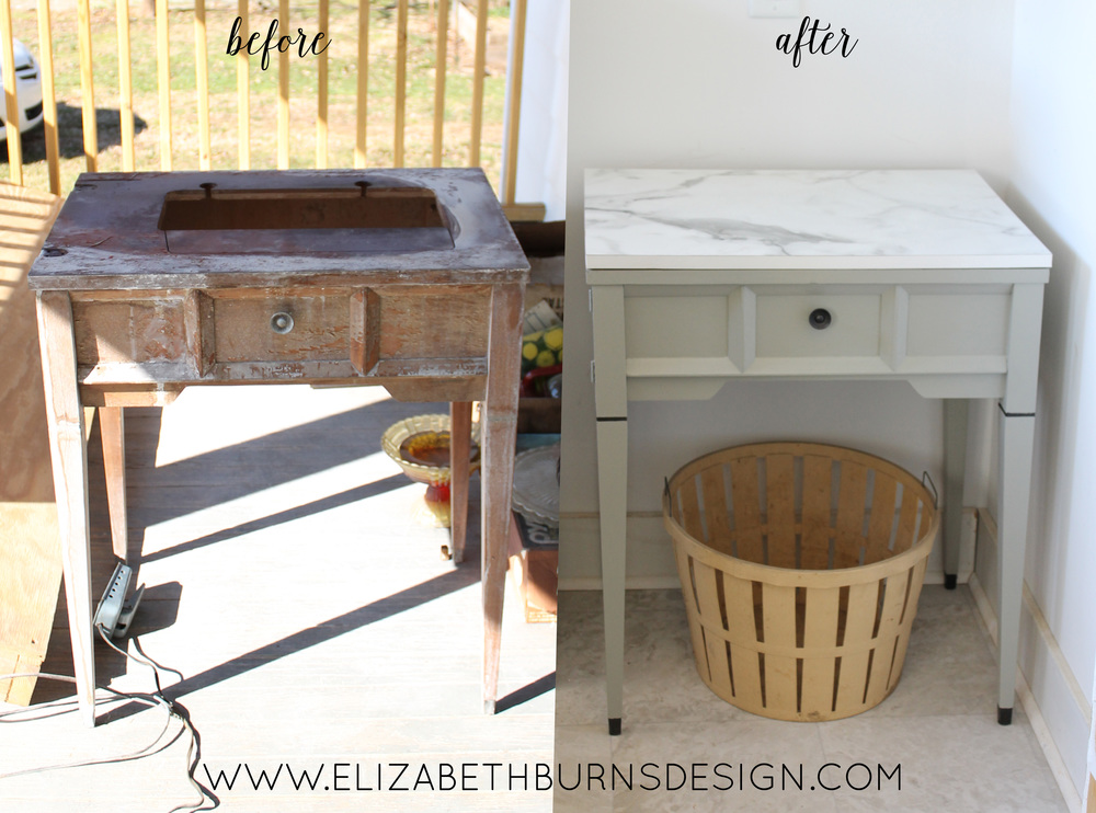 Sewing Table Makeover Myrtle House Elizabeth Burns Design