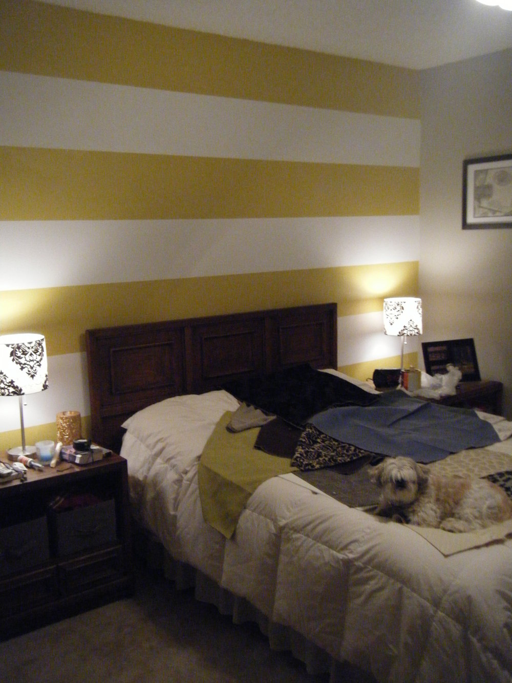 Bold accent wall after!