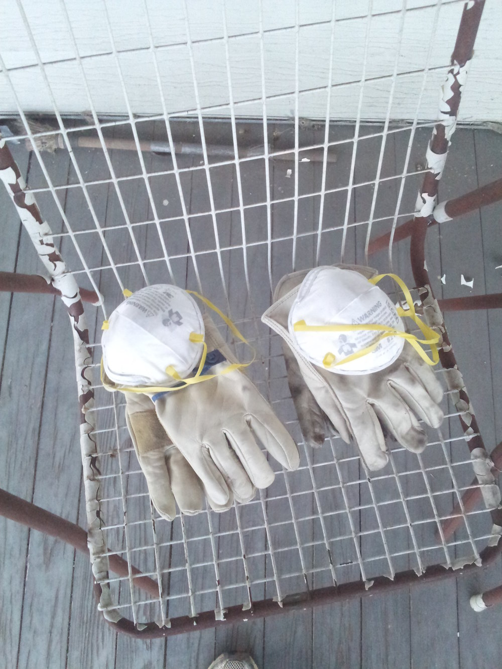 His and hers work gloves