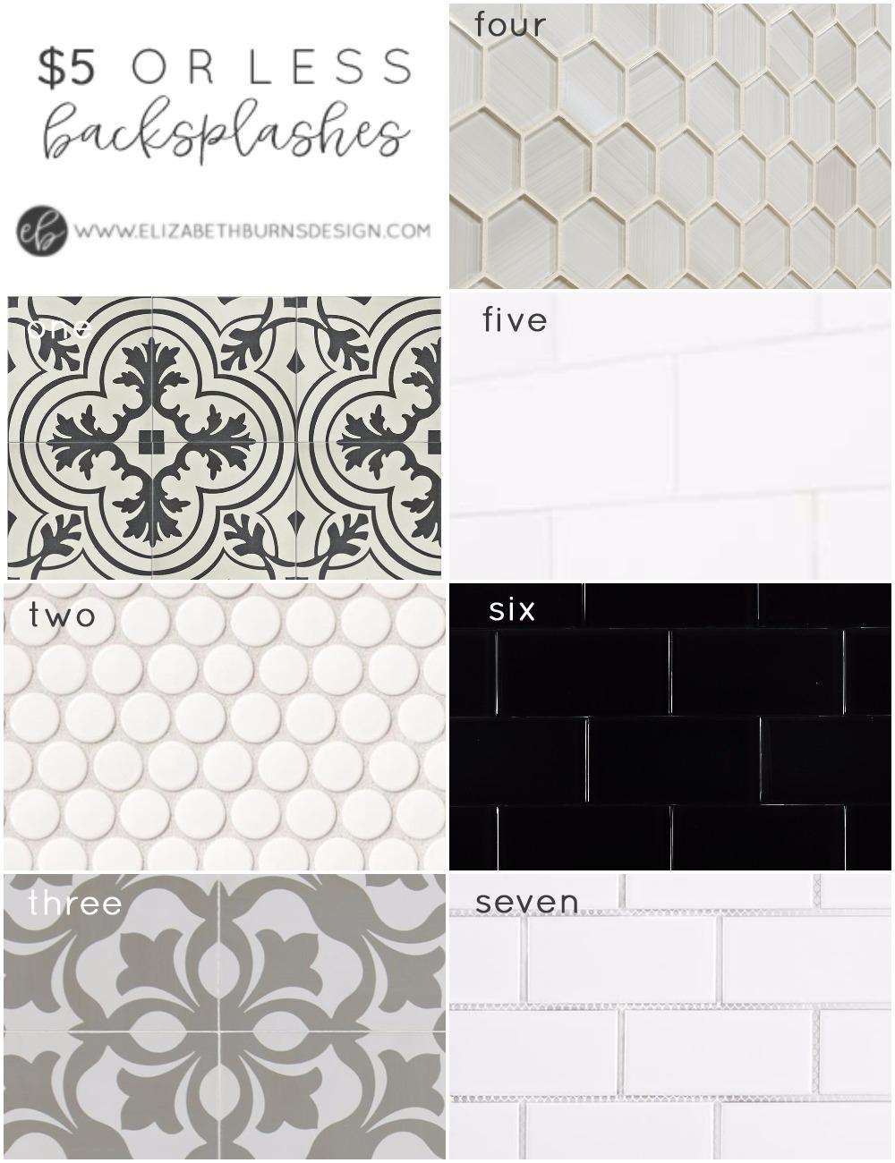 Elizabeth Burns Design | Budget-friendly backsplash options that are affordable under $5 a square foot