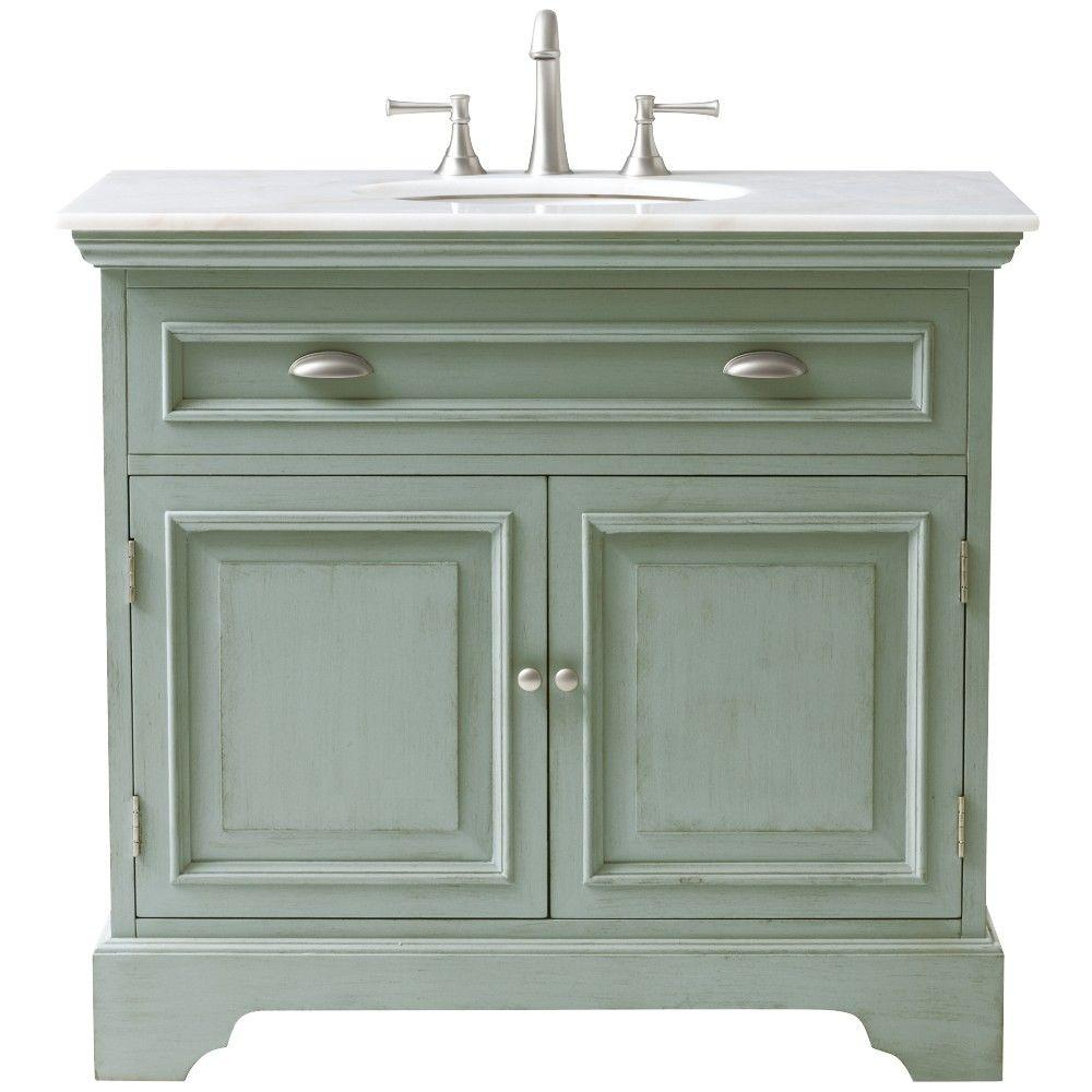Sadie Vanity in Antique Light Cyan