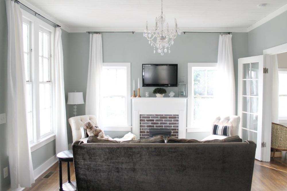 Diy Affordable Window Treatments For Large Windows Elizabeth Burns Design Raleigh Nc Interior Designer
