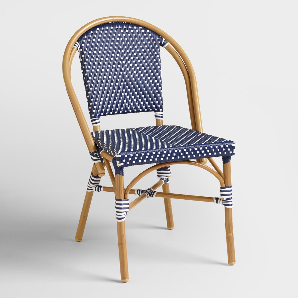 Navy Bistro Chairs - 2 | $215.98 ON SALE