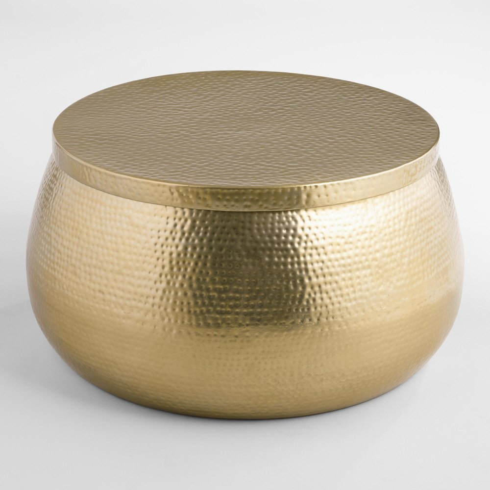 Gold Cala Hammered Coffee Table | ON SALE $179.99