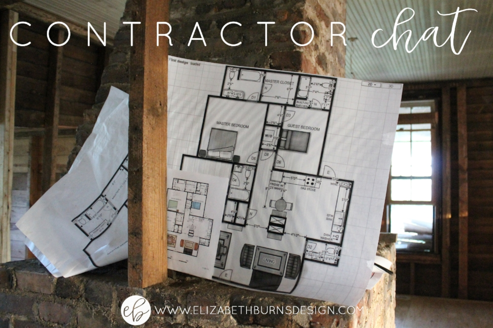 Contractor Chat - Homeowners ask questions for a licensed contractor | Elizabeth Burns Design
