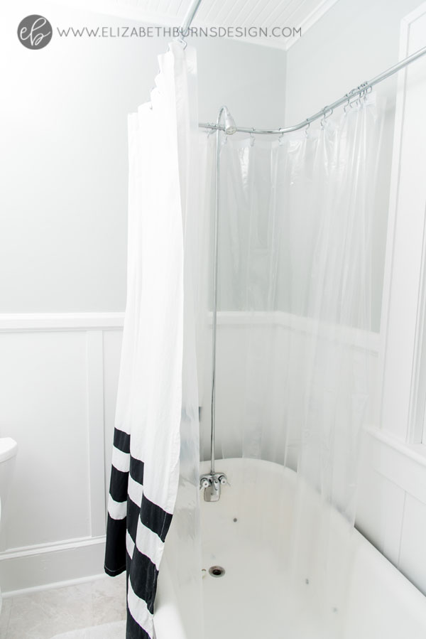 House Flipping Before and Afters - Budget Bathroom Renovation, White Gray and Blue Bath - Sherwin Williams Silver Strand (19).jpg