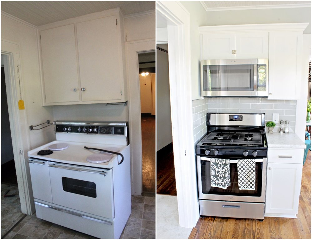 House Flipping Before and Afters - Budget Kitchen Renovation, Cheap Cabinets, Cheap Countertops - Sherwin Williams Silver Strand 27
