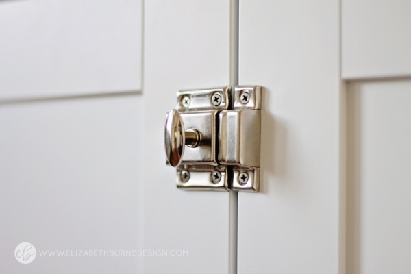 Polished Nickel Vintage Style Cabinet Latch - DLawless Hardware