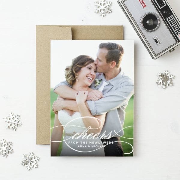 Basic Invite | Cheers Holiday Photo Card
