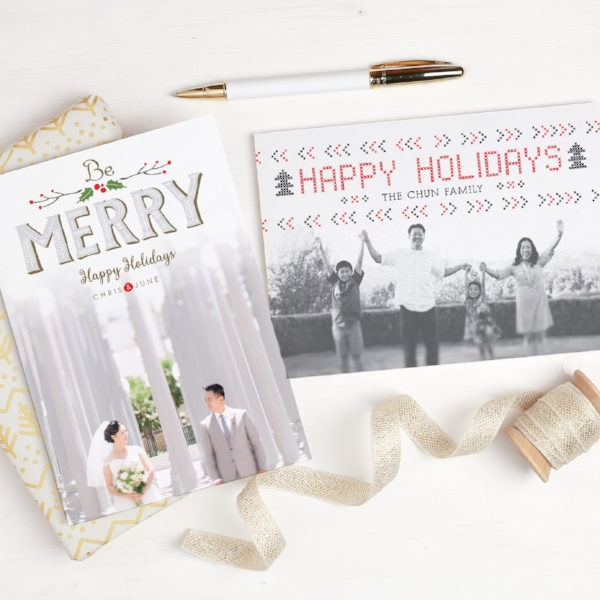 Basic Invite | Merry Holidays Photo Card