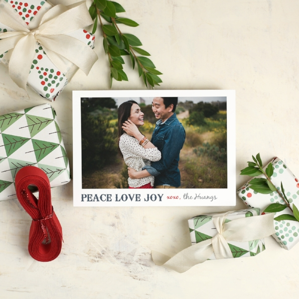 Basic Invite | Peace Love Joy Photo Card