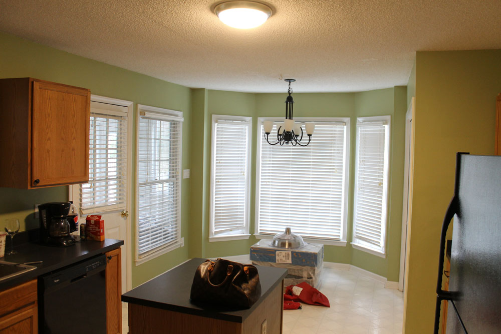Raleigh NC Interior Designer - White Budget Kitchen Renovation Before and Afters Gray Island Benjamin Moore Classic Gray (19).jpg