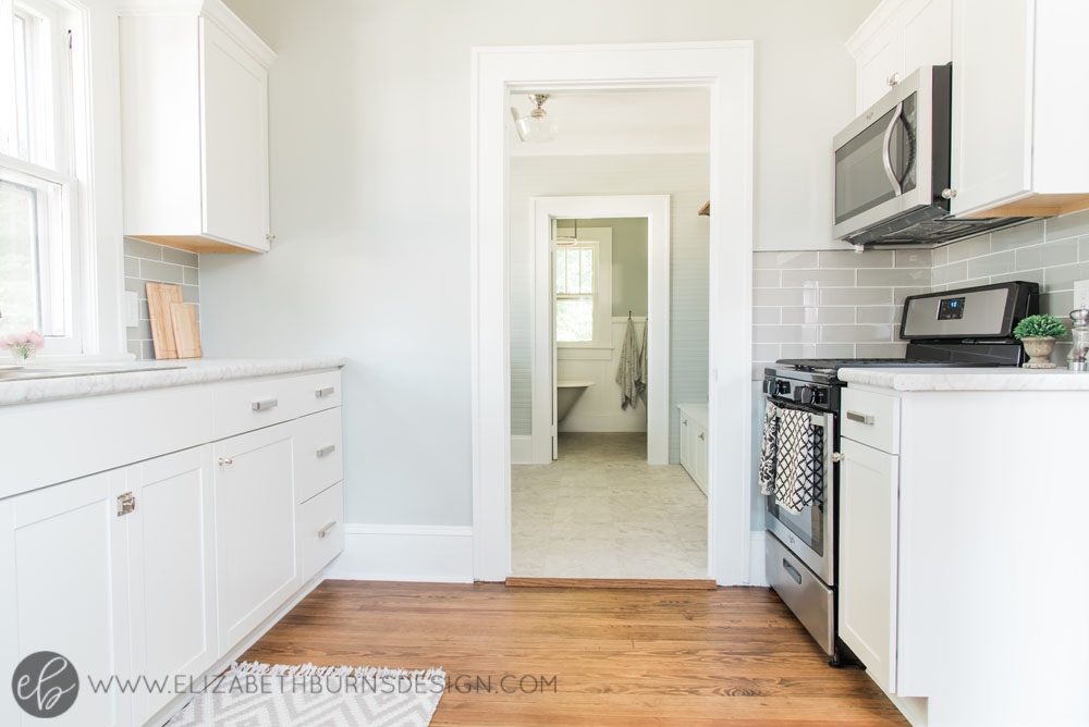 House Flipping Before and Afters - Budget Kitchen Renovation, Cheap Cabinets, Cheap Countertops - Sherwin Williams Silver Strand (6).jpg