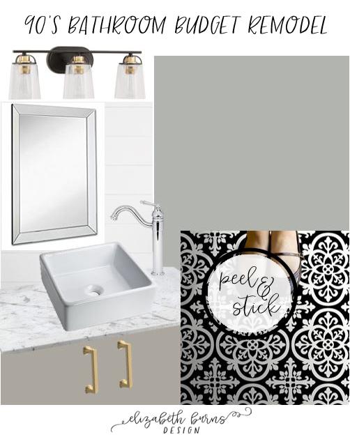 Elizabeth Burns Design | 90s Bathroom Budget Remodel Ideas