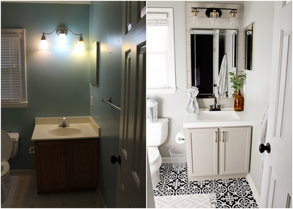 Elizabeth Burns Design - Budget Bathroom Makeover Magnetic Gray Floorpops Peel and Stick Tile Before and Afters (3).jpg