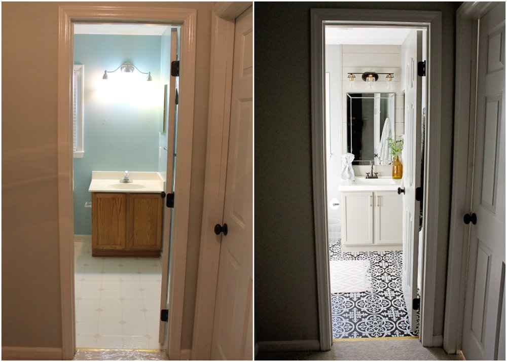 Elizabeth Burns Design - Budget Bathroom Makeover Magnetic Gray Floorpops Peel and Stick Tile Before and Afters (2).jpg