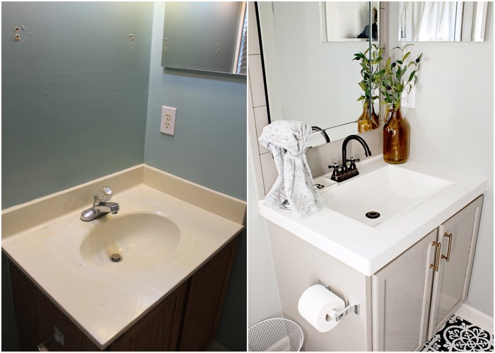 Elizabeth Burns Design - Budget Bathroom Makeover Magnetic Gray Floorpops Peel and Stick Tile Before and Afters (1).jpg
