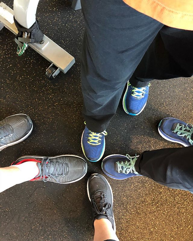 I managed to convince my clients to get #hokaoneone shoes! We love them 🙌🏼