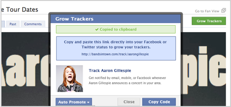 Bandsintown Grow Trackers